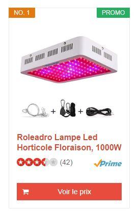 roleadro led horticole
